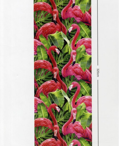 Global Fusion by Galerie G45274 Flamingos Wall Panel