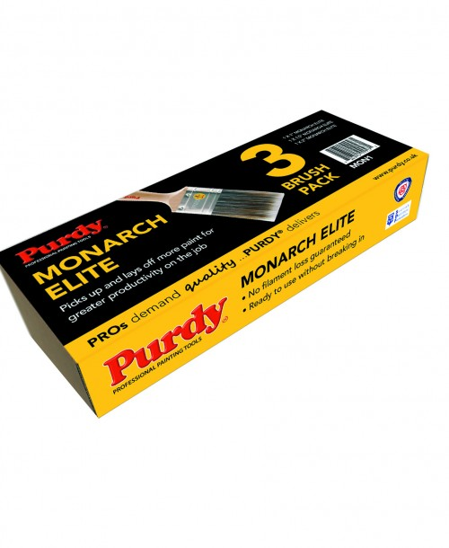 Purdy Monarch Elite Brush Set - 1 inch, 1.5 inch, 2 inch