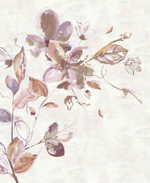 SUMI-E Galerie 30620 Watercolour Flower Pink MURAL