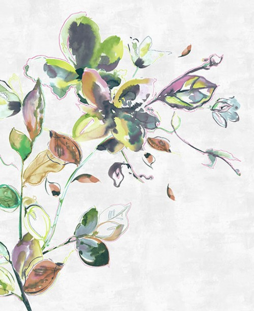 Sumi-e by Galerie 30622 Watercolour Flower Multi Mural