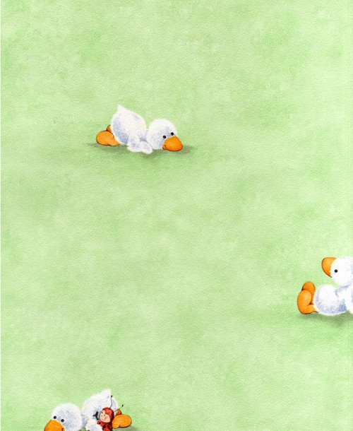Duckling childrens Wallpaper 129519