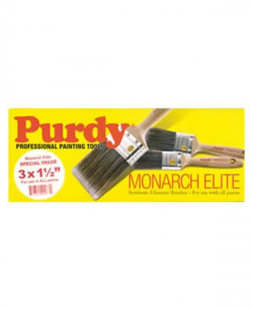 Purdy Monarch Elite Brush Set - 3 x 1.5 inch