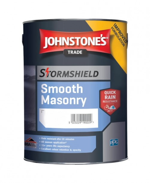 Johnstone's Trade Stormshield Smooth Masonry - Mixed Colour 5 Litre