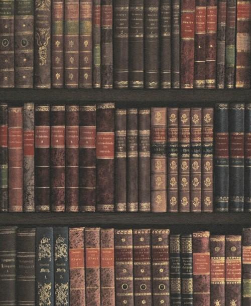 Bookshelf Wallpaper By Rasch 525809 S A Supplies