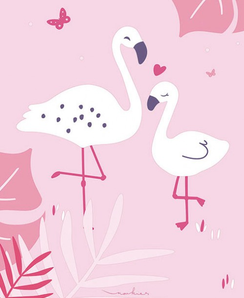 Little Explorers by Galerie ND21150 Pink Flamingo