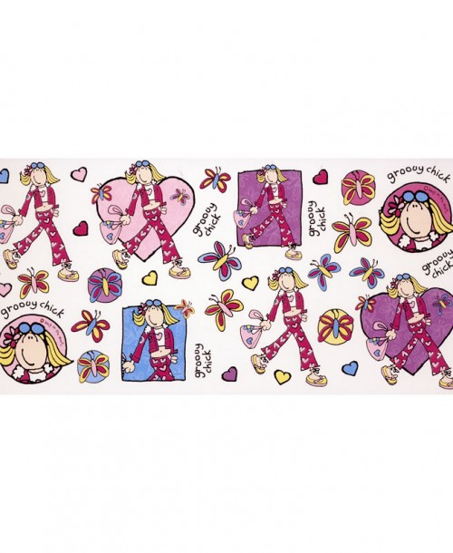 Groovy Chick Stickers
