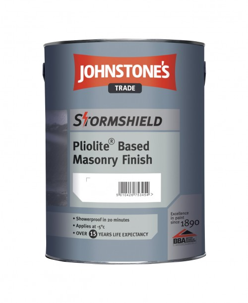 Johnstone's Trade Stormshield Pliolite Based Masonry Finish - Mixed Colour 5 Litre